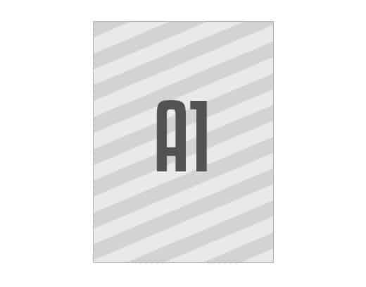 A1 Wahlplakat aus Affichenpapier