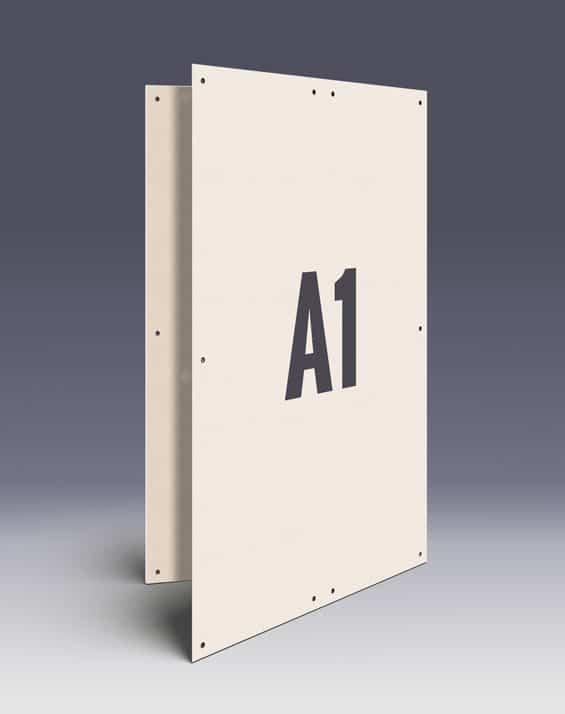 Allwetterplakate im DIN A1 Format - Doppelplakate aus recycelten Holzfasern - Wahlplakate einfach im Altpapier entsorgen