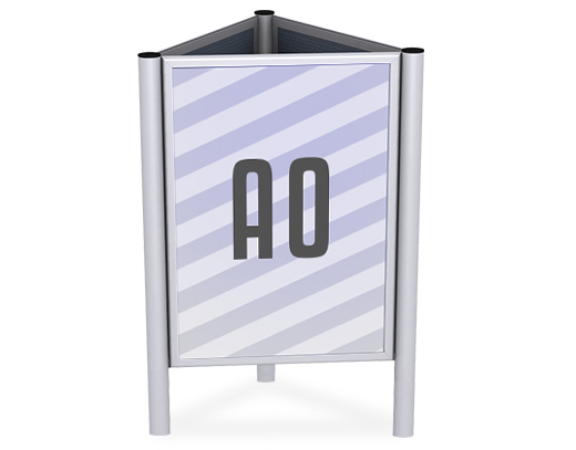 Dreieckständer A0 mit Alu-Klapprahmen für Wahl-Plakate