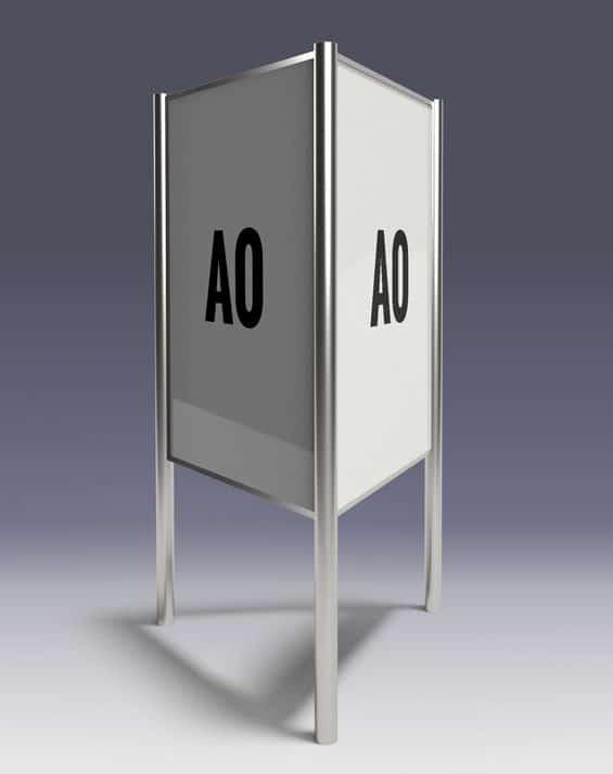 Dreieckständer A0 - Der Plakatständer für A0-Plakate für Ihren Wahlkampf