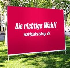 Großflächenplakate - Wahlplakat auf Grünstreifen