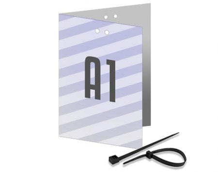 Allwetterplakate A1 - klimaneutrale Doppelplakate mit Kabelbindern zum Aufhängen - Wahlplakat-Shop