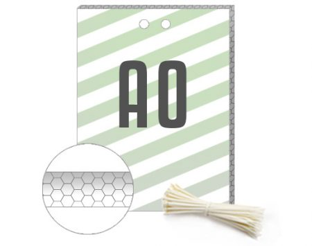 Wabenplakate A0 - aufhängefetrtig vorgebohrt mit Kabelbindern
