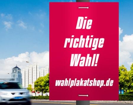 Hojlkammerplakat im A1 Format - Laternenwerbung im Wahlkampf