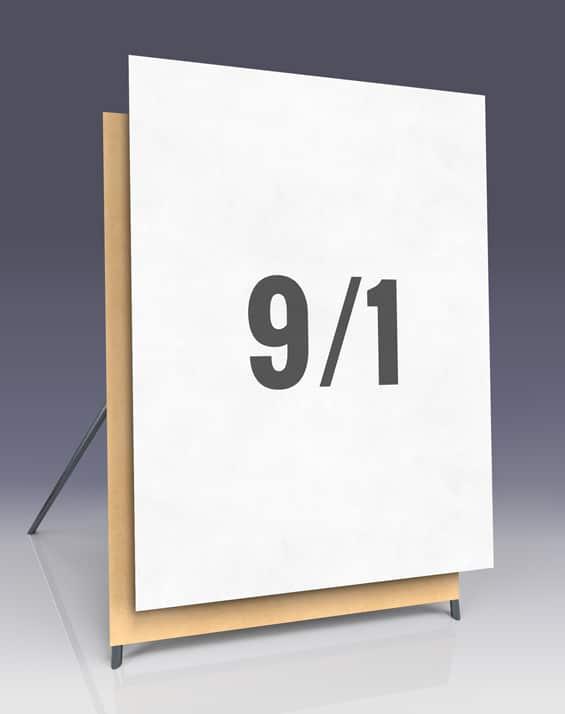 Affichenpapier im 9/1 Plakat - Großflächen im Hochformat für Wahlwerbung