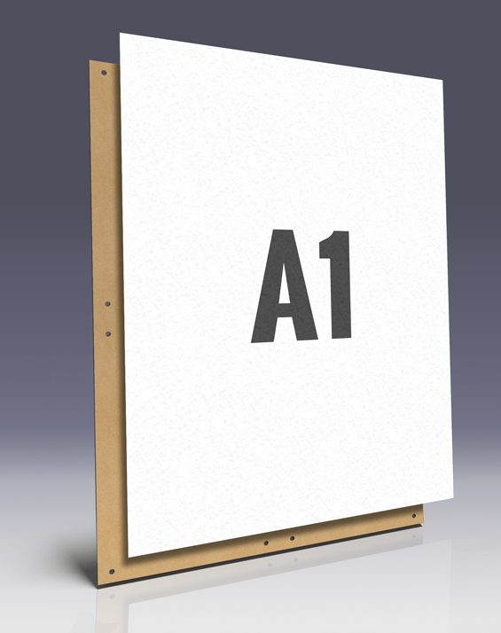 Affichenpapier A1 Plakate - ideal zum Plakatieren auf Hartfaserplatten