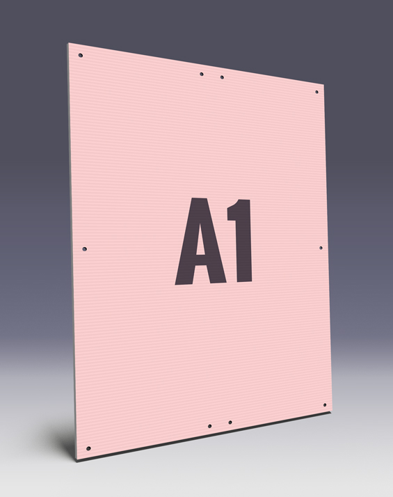 Hohkammerplakate A1 mit Kabelbindern für Ihre Wahlwerbung - Kunststoffplakate HKPs