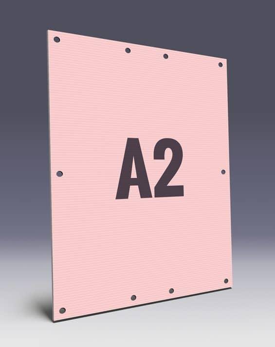 Hohlkammerplakate im A2 Format für den Wahlkampf - Kunststoffwahlplakate im Wahlplakatshop
