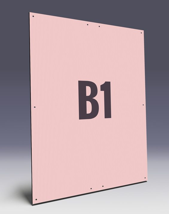 Hohlkammerplakate B1 - Kunststoffplakate für den Wahlkampf im B1 Format