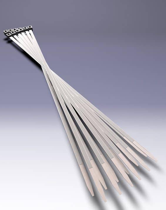 Lange Kabelbinder im Paket für die Befestigung von Hohlkammer-Wahlplakaten