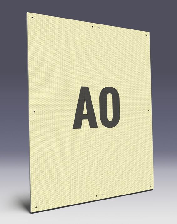 Wabenplakate aus Wabenplatten im A0 Format - Wabenstruktur stabilisiert das Kunststoffplakat