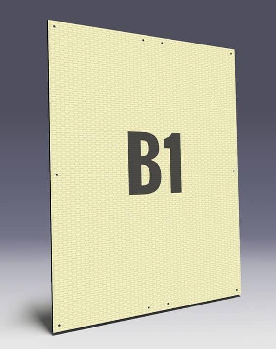 Wabenplakate aus Wabenplatten im B1 Format - Wabenstruktur stabilisiert das Kunststoffplakat