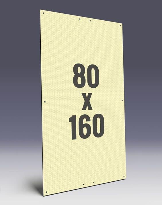 Wabenplakate aus Wabenplatten im Zirkusformat - Wabenstruktur stabilisiert das Kunststoffplakat